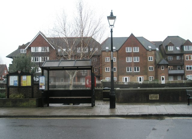 Bus shelter at the bottom of Arundel High Street