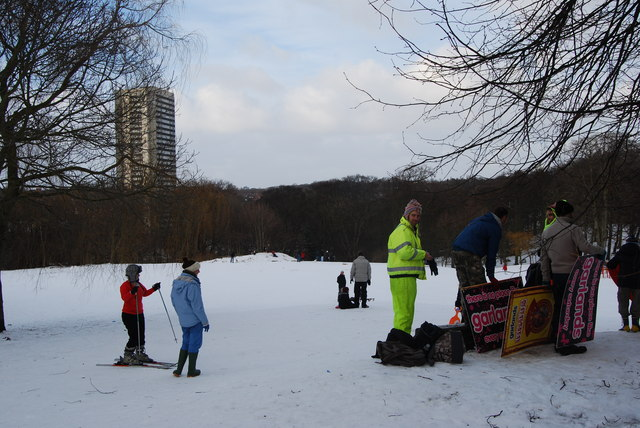 Skis and homemade sledges