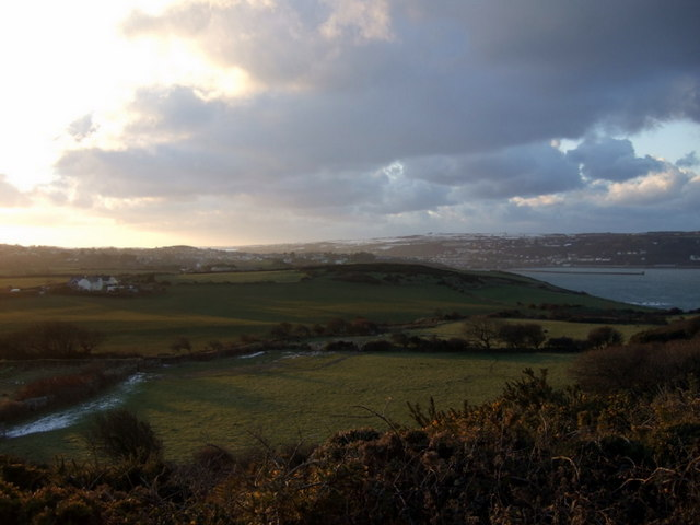 Westward view in winter