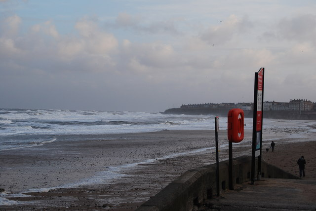 Whitley Bay, heavy seas