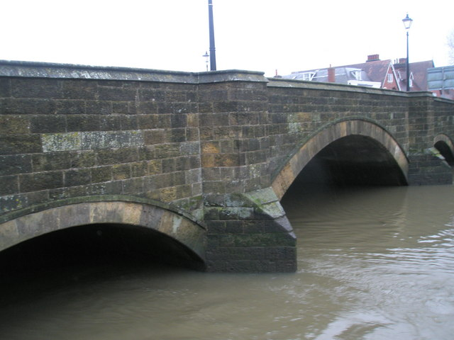 December 2009: river levels very high after recent heavy rain