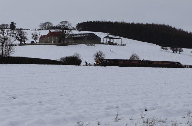 View towards Oakcliffe Farm, Crambe