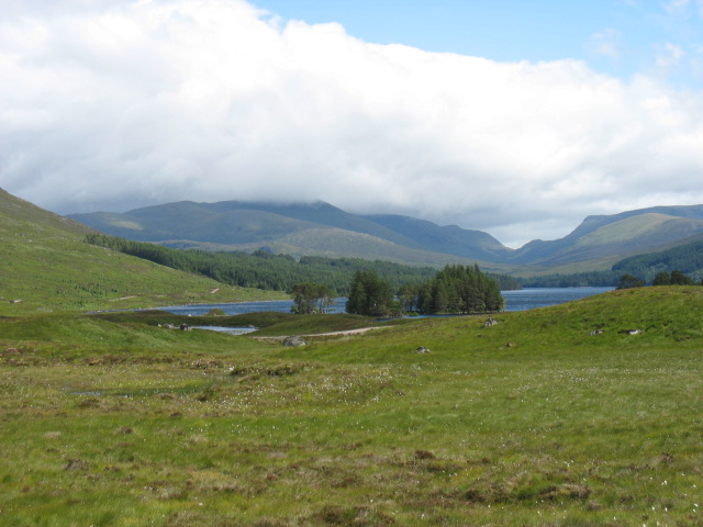 Loch Ossian from east of Corrour Station