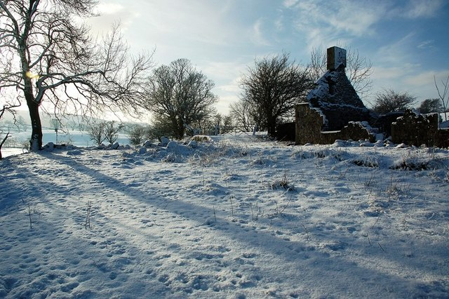 Waulkmill Cottage Ruin in the Snow