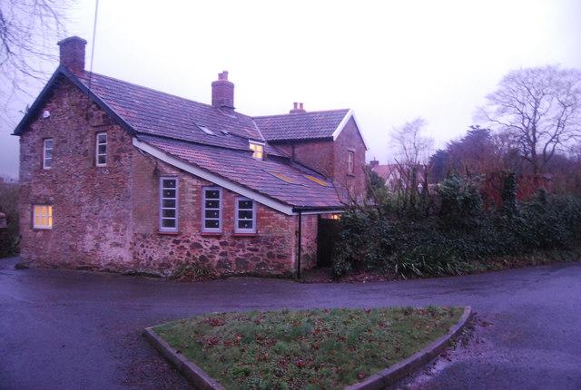 Large red sandstone built house, Bicknoller