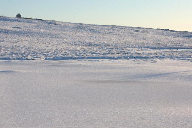 Frozen pool west of Sobul