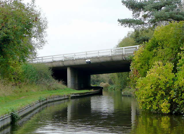 Canal bridge at Clay Mills near Burton-upon-Trent