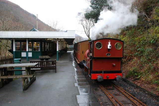 Talyllyn Railway train at Abergynolwyn station