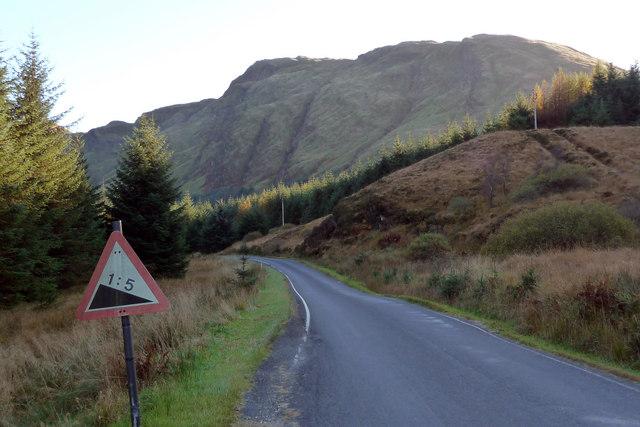 Top of road down Hell's Glen