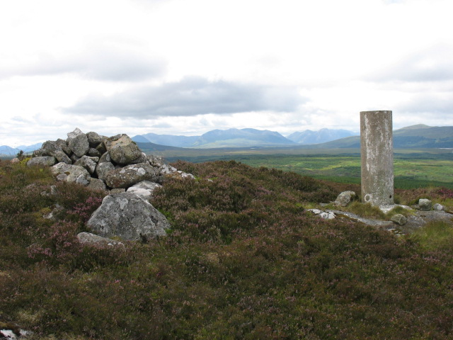 The summit of Meall Chomraidh