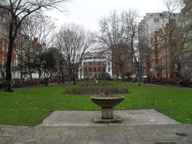 The garden within Queen Square