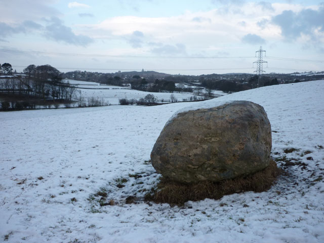 Erratic boulder on Burrow Heights