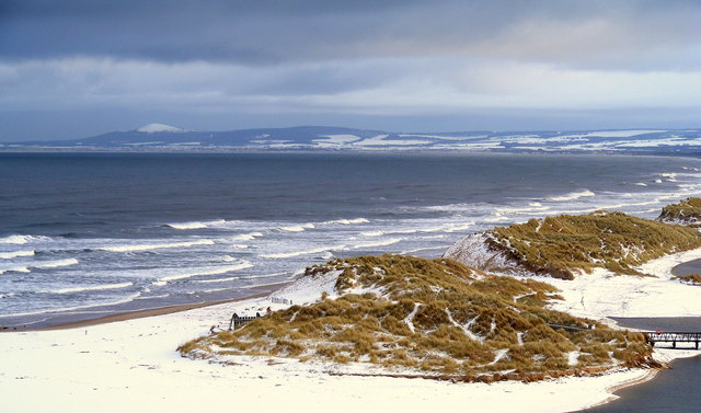 Snow on the Sand Dunes at Lossiemouth