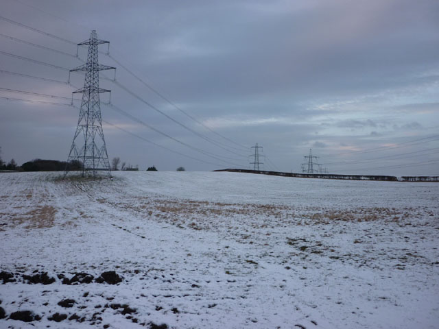 Pylons in a South Lancaster field