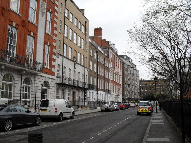 Parked vehicles in Queen Square