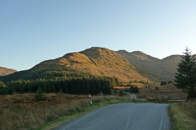 View towards Ben Donich from the top of Gleann Mor