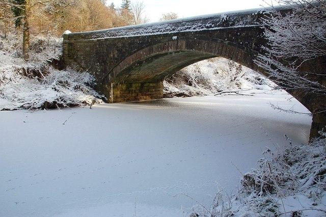 Hamilton Bridge Across The Ice