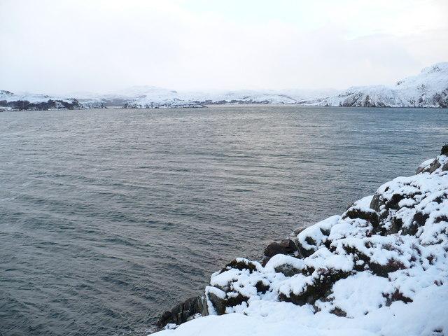 Rubh a' Ghiubhais in winter