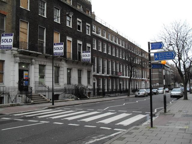 Zebra crossing in Guilford Street