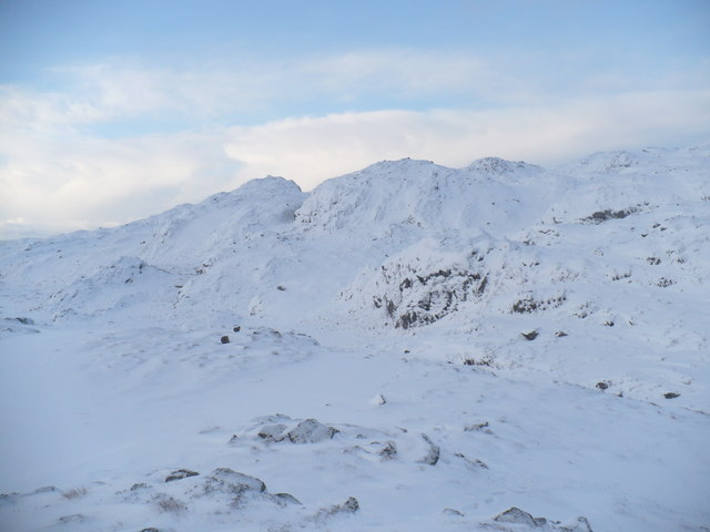 Snow covered hills near Diabaig