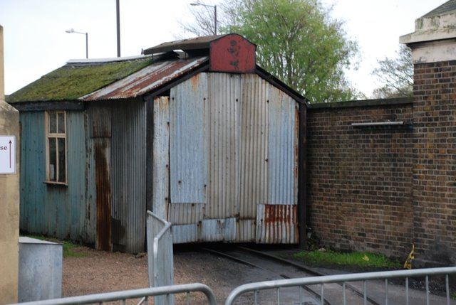 Diesel locomotive shed