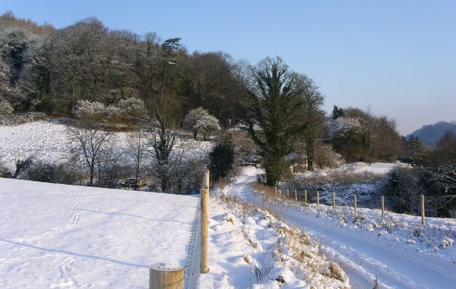 Hillmill lane to Lower Lodge of Newark Park