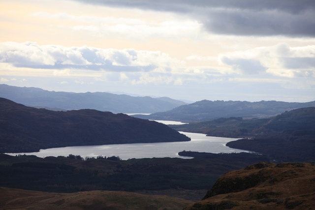 View over Loch Awe from near the Chruachan Dam