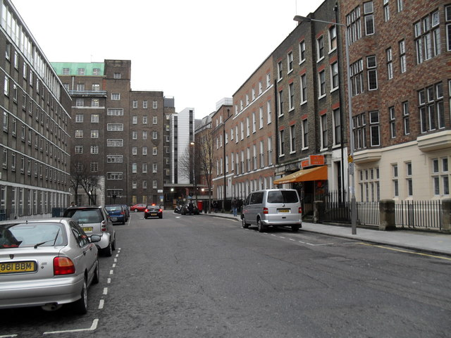 Looking southwards down Greville Street towards Guilford Street