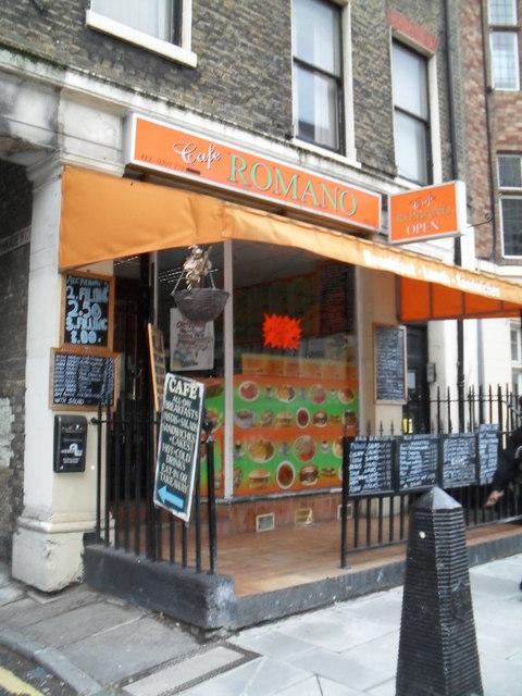 Café Romano in Greville Street