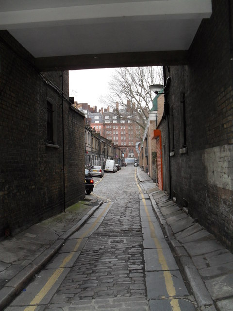 Looking from Greville Street into Colonnade