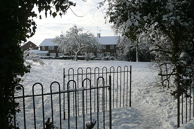 Gateway to a winter scene