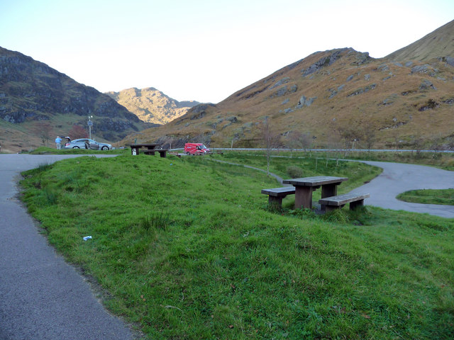 Parking and picnic area at Rest And Be Thankful
