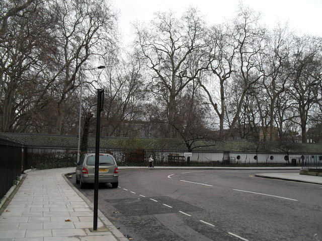 Looking from Brunswick Square towards Lansdowne Terrace