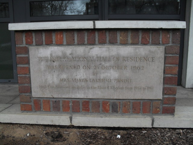 Commemorative stone outside International Hall