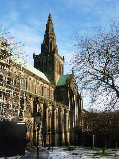 Glasgow Cathedral with snow