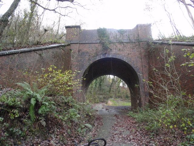 Old railway bridge at Efail Fach