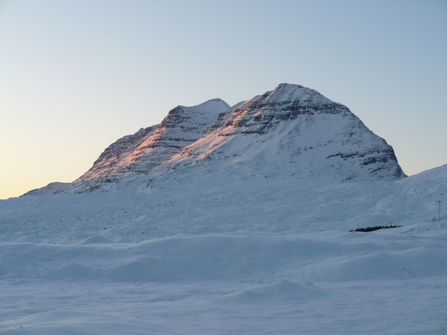 Liathach in deep snow