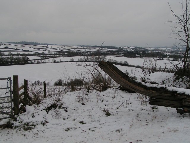 The Exe valley in snow