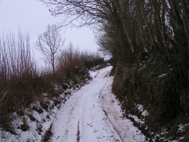 Farm track from the Exe valley to Bidwell