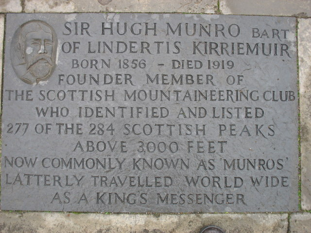 Kirriemuir plaques no. 1 - Sir Hugh Munro