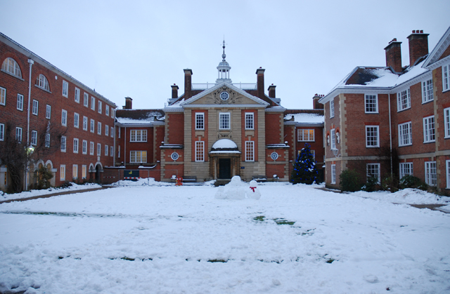 Lady Margaret Hall in winter livery