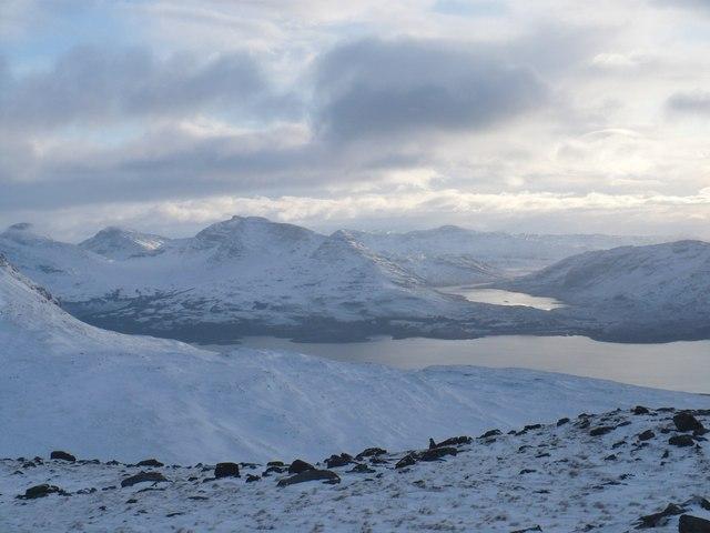View from An Ruadh mheallan summit