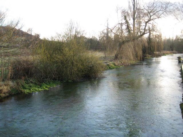 River Lambourn in Boxford