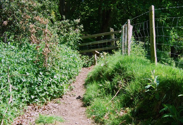Stile into the mixed woodland