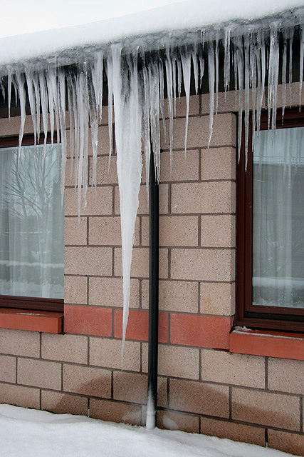 Icicles at Borders General Hospital, Melrose
