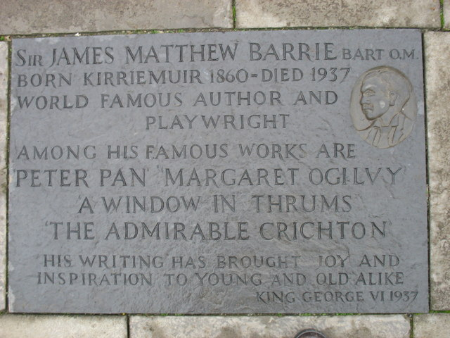 Kirriemuir plaques no. 3 - Sir J M Barrie