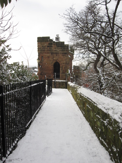 Bonewaldesthorne's Tower in the snow