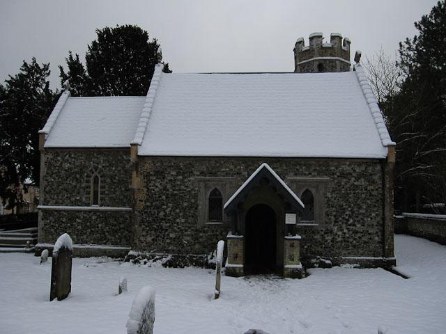 All Saints in the snow, Santon
