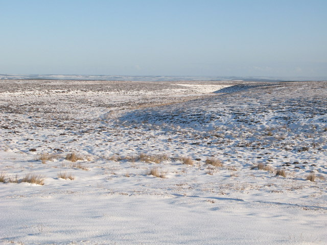 Snowy panorama from the Foumart Hills (4: ENE - The cleugh of Lambsrigg Sike)