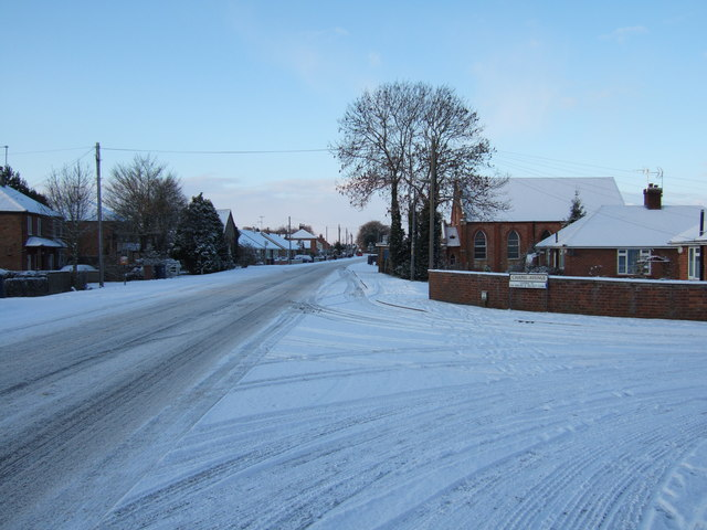 Snow covered junction